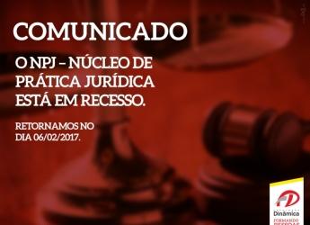 Comunicado - Núcleo de Práticas Jurídicas - NPJ