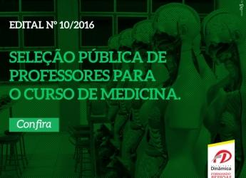 SELEÇÃO PÚBLICA DE PROFESSORES PARA O CURSO DE MEDICINA